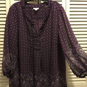 Charter Club Tops - Sheer blouse